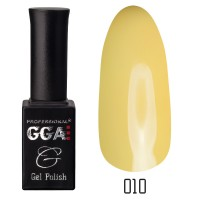 Gel-lacquer GGA Professional 10 ml №010 (Green-yellow, enamel)