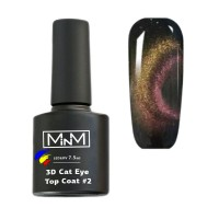 3D Cat top without a sticky layer M-in-M 3D Cat Eye Top Coat # 2, 7.5 ml