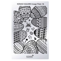 Mini plate for stamping Konad Square Image Plate 16