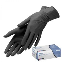 Nitrile non-sterile gloves SafeTouch Black M 100 pcs.