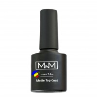 Matte top for gel polish M-in-M Matte Top Coat (plush) 7.5 ml