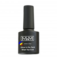 Glow in the dark top with a sticky layer M-in-M Glow in the Dark Wipe Topcoat, 7.5 ml