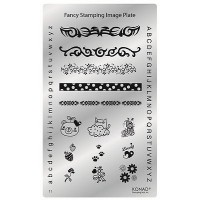 Mini plate for stamping Konad Square Fancy Plate 01