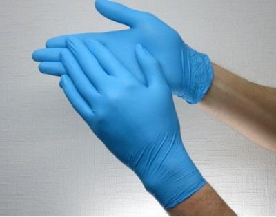 Nitrile non-sterile gloves SafeTouch Advanced Slim Blue M 1 pair Are made of synthetic rubber, which is not natural and does not contain protein. Nitrile gloves provide excellent sensitivity, 1 pair, M size