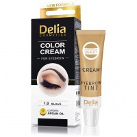 Cream-paint for eyebrows DC (with argan oil) 1.0 (black) 15 ml