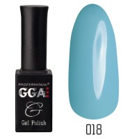 Gel-lacquer GGA Professional 10 ml №018 (Baby blue, enamel)