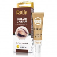 Cream-paint for eyebrows DC (with argan oil) 3.0 (dark brown) 15 ml