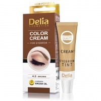 Cream-paint for eyebrows DC (with argan oil) 4.0 (brown) 15 ml