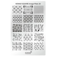 Mini plate for stamping Konad Square Image Plate 20
