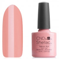 Shellac CND Salmon Run (solid pink enamel)