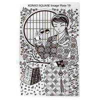 Mini plate for stamping Konad Square Image Plate 19
