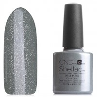 Shellac CND Wild Moss (silver-gray-greenish shimmer)