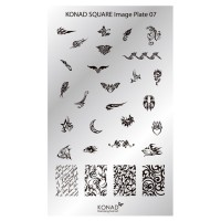 Mini plate for stamping Konad Square Image Plate 07