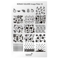 Mini plate for stamping Konad Square Image Plate 18