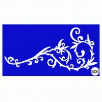 Stencils for the design of henna Kodi Professional S06