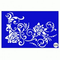 Stencils for the design of henna Kodi Professional S09