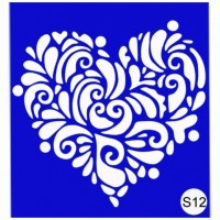 Stencils for the design of henna Kodi Professional S12