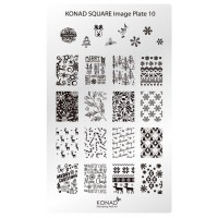 Mini plate for stamping Konad Square Image Plate 10
