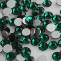 Rhinestones Brilliant Nails Emerald SS3 100 pcs